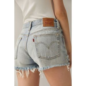 Levi's Cut Off Mid Rise Button Fly Jean Shorts